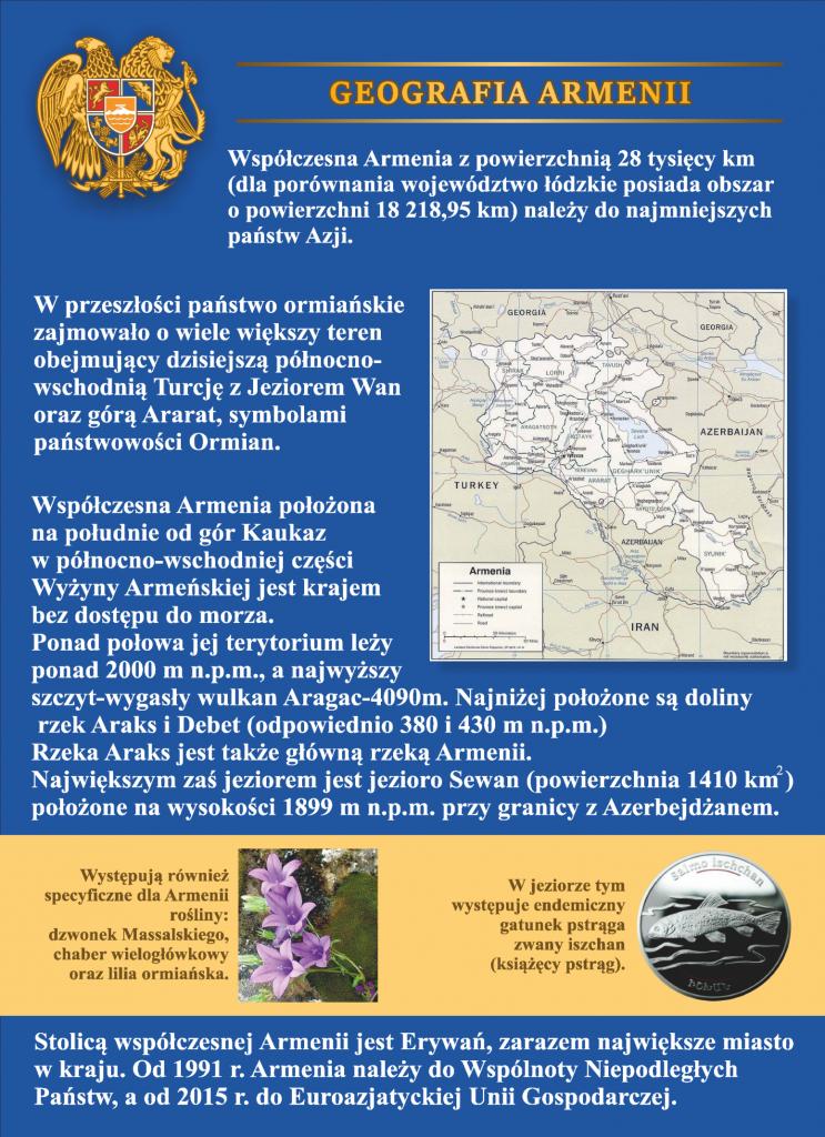 Plansza numer 2 - GEOGRAFIA ARMENII